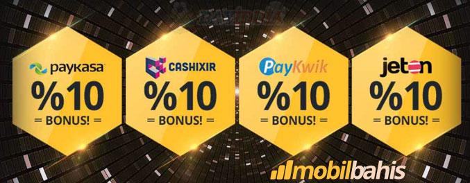 Mobilbahis ile ön ödemeli kartlara %10 bonus