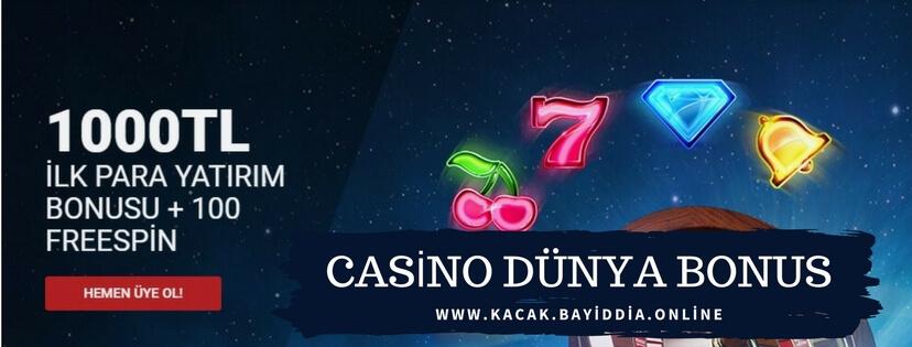 Casino Dunya bonus işlemleri