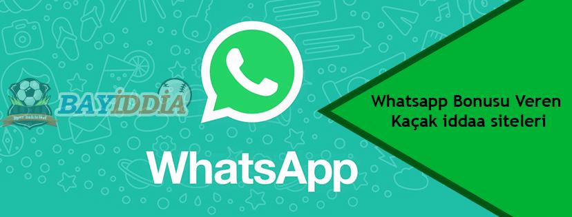 Whatsapp Bonusu Veren Kaçak iddaa siteleri